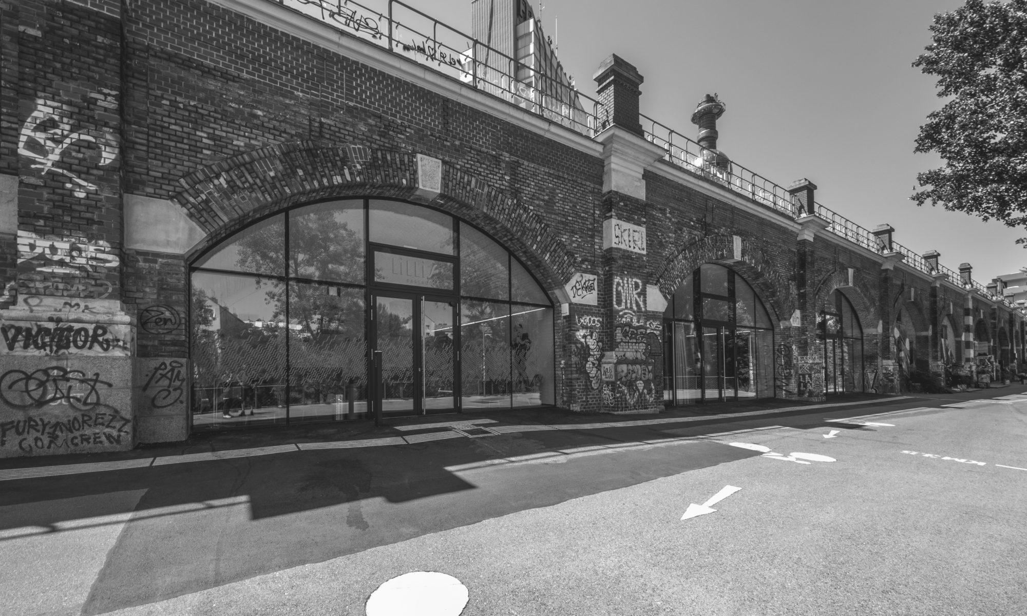 Lillis Ballroom in den Stadtbahnbögen Außenansicht der 4 Bögen